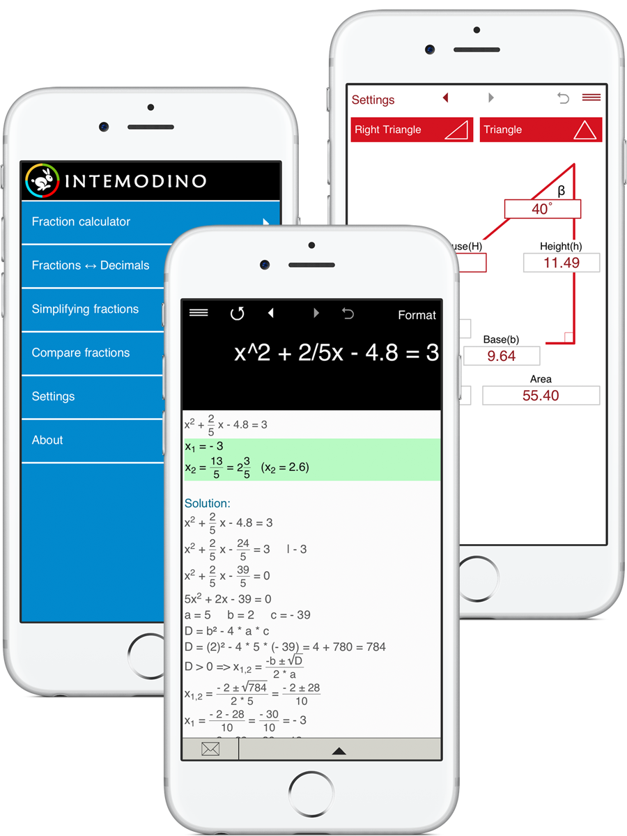 Math apps and calculators